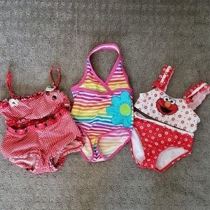 Bundle of girl's bathing suits
